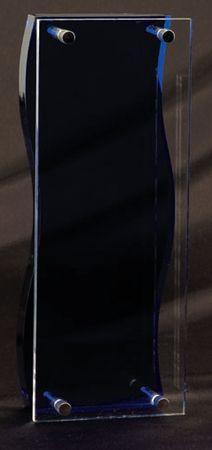 AA3948MBL clear acrylic with chrome trim with blue acrylic back $65.00