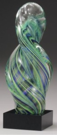 AG102 Glass art spiral 250mm with gift box. $95.00