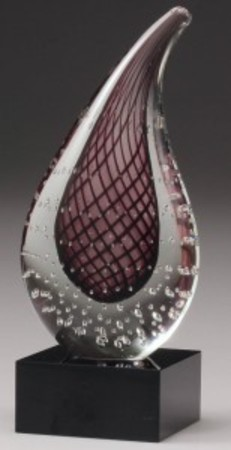 AG104 Glass art red teardrop 210mm with gift box. $175.00