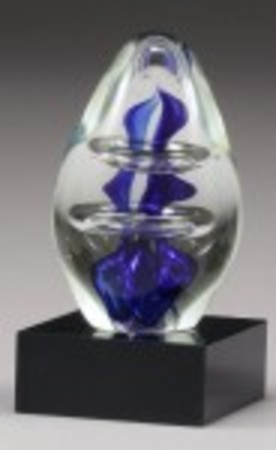 AG105 Glass blue dome 130mm with gift box. $75.00