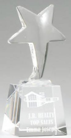 CC582S crystal star and base (140mm high) $62.00