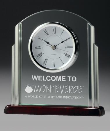 CG519 10mm thick jade glass clock  $132.00