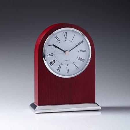 CL703 mahogany arch clock 140mm high $75.00
