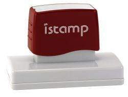 IS75 pre inked stamp (120 x 35mm printable area) $88.00