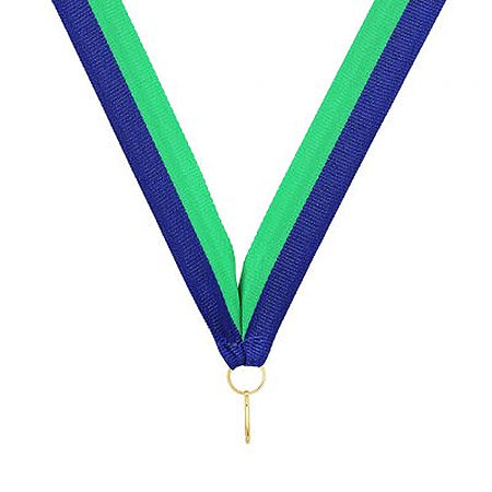 RY34 blue green ribbon for medals $0.50