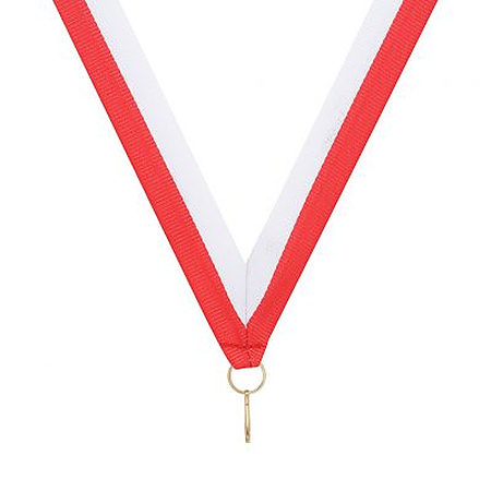RY65 red white ribbon for medals $0.50