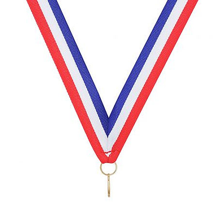 RY653 red white blue ribbon for medals $0.50