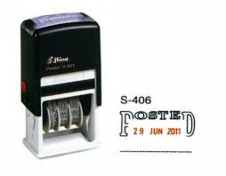 Shiny 406 self inking dater with 'Posted' $35.00
