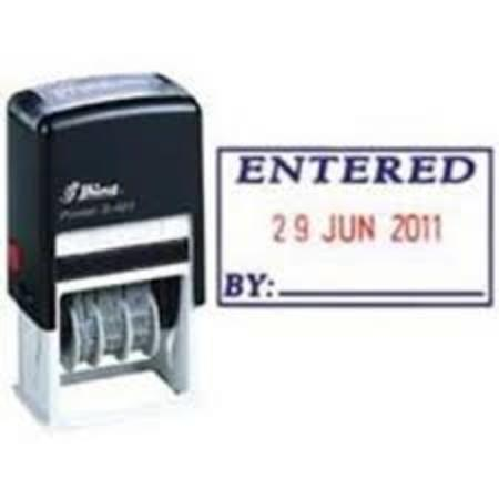 Shiny 407 self inking dater with 'Entered by' $35.00