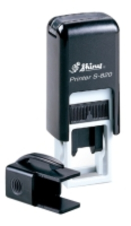 Shiny 820 self inking stamp with 12 X 6mm die plate  $22.00