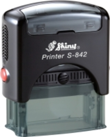 Shiny 842 self inking stamp with 38 X 14mm die plate ($28.00)