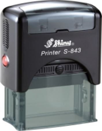 Shiny 843 self inking stamp with 47 x 18mm die plate ($35.00)