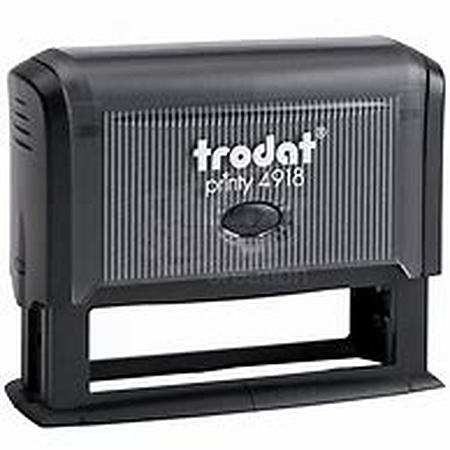 Trodat 4918 (75 x 15mm die plate) self inking stamp $46.00