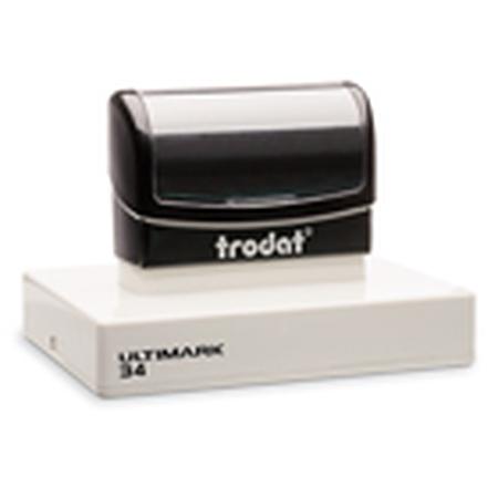 UM34 Ultimark pre inked stamp. Max printable area 97 x 72mm $96.00