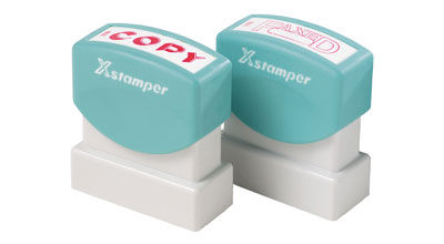 Xstamper pre inked office stamps $18.00 each incl GST (NOT CUSTOM MADE)
