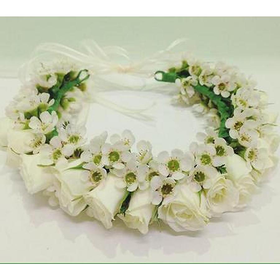 ... White rose flower crown. 1 1 88d105b6ef6