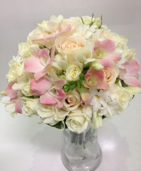 Blush Pink, White & Cream Posy