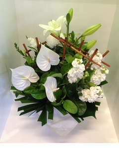 A Modern White Dome Arrangement