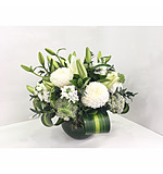 White Fish Bowl Arrangement