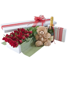 Red Roses, 24 Deluxe Presentation Box