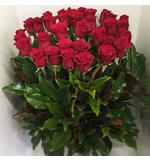 A Three Dozen Red Rose Arrangement
