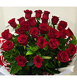 A Two Dozen Red Rose Bouquet