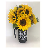 Sunflower Blackboard Jar