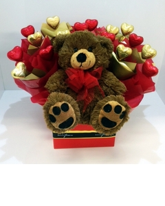 Box of Love with a Teddy $55.00