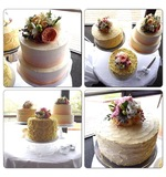 Cake Flowers in Peaches, Apricots & Whites