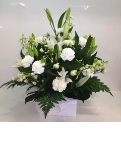Deluxe White Dome Arrangement $100.00