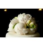 White Peonie & Freesia Cake Flowers