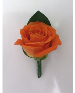 Orange Rose Buttonhole