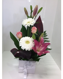 A Pink and White Just Because Arrangement