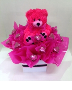 Pink Box of Love with Teddy
