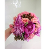 Pink Textured Wedding Posy