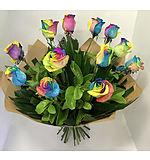 Rainbow Rose 12 Bouquet