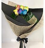 Rainbow Rose 6 Wrap