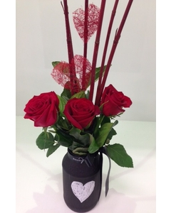 Red Rose Chalk Jar Of Love