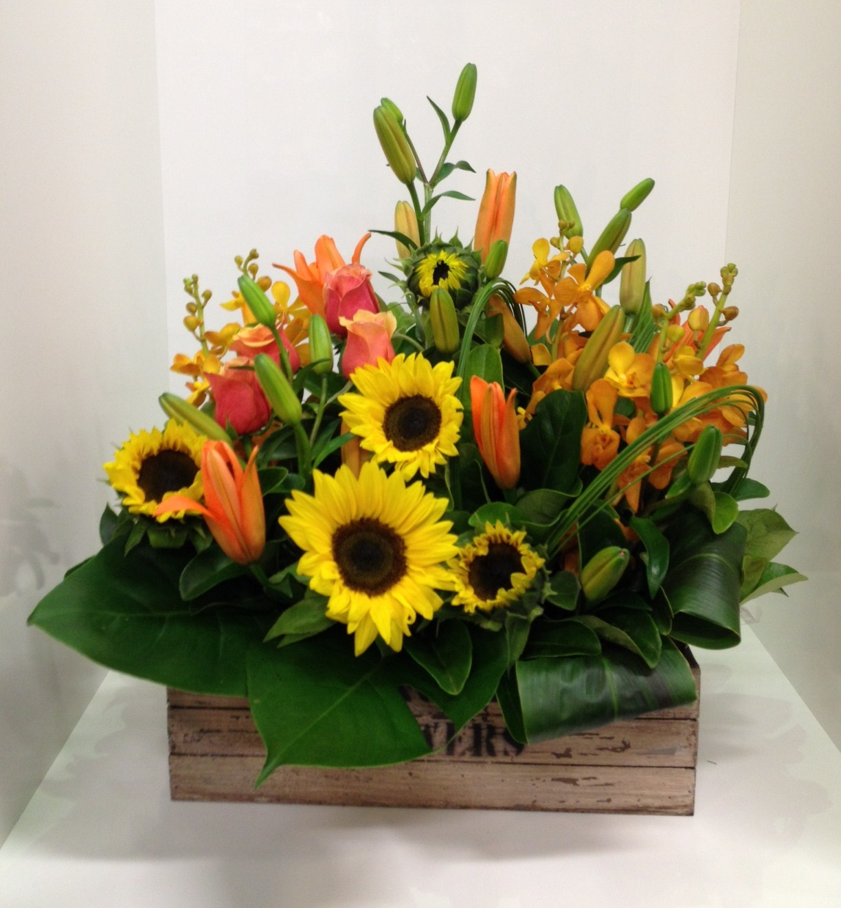 A Rustic Crate Arrangement