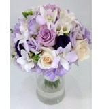 Soft Lilacs, Cream and Purple Posy