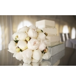 White Peonie Posy Wedding Bouquet