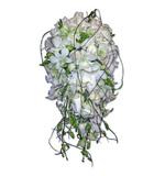 Cream & white teardrop with diamantes and dodda vine
