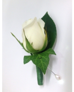 White Rose Butthonhole