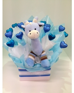 Blue Giraffe Chocolate Bouquet