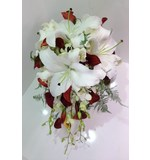Calla Lilly, Oriental Lilly and Orchid Teardrop