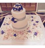lilac, blue cake flowers