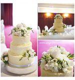 White & Cream Cake Flowers