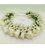White rose flower crown