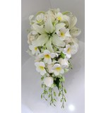Frangipani, lily, rose, orchid diamante teardrop