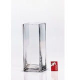 Tall Glass Cube Vase 10x10x25cm